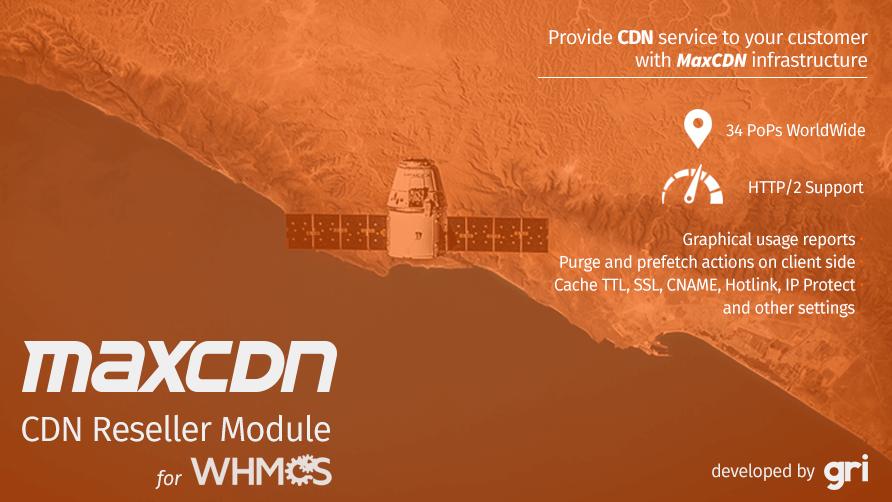 MaxCDN CDN Reseller Module for WHMCS